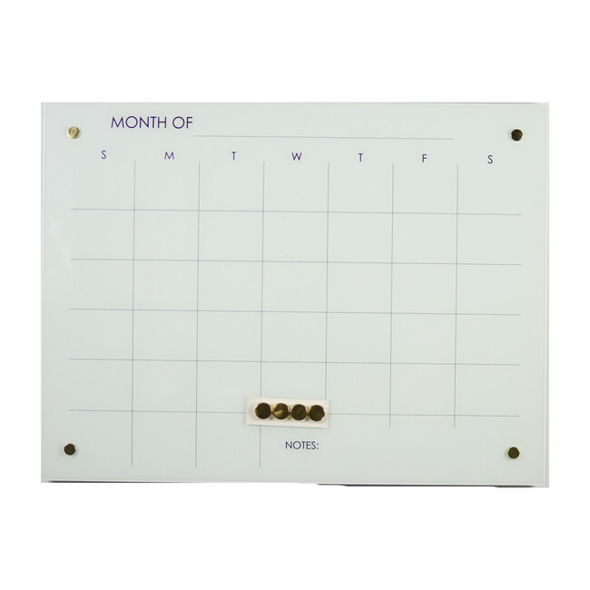 Monthly Planner Glass Magnet Dry Erase Board