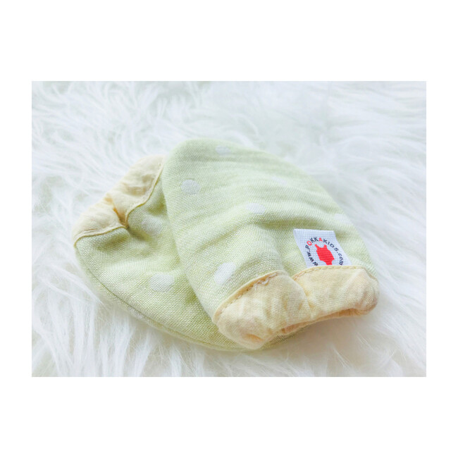 100% GOTS-Certified Organic Cotton Mittens, Lime