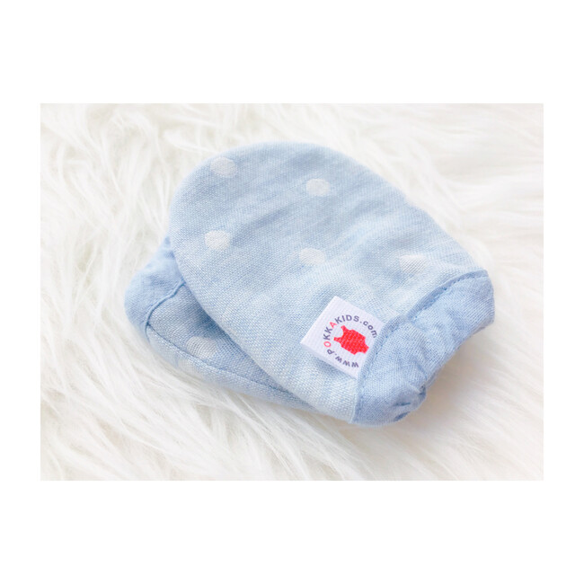 100% GOTS -Certified Organic Cotton Mittens, Turquoise