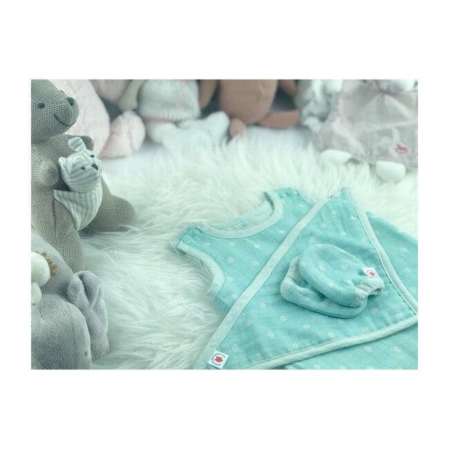 100% GOTS-Certified Organic Cotton Newborn Gift Set, Mint