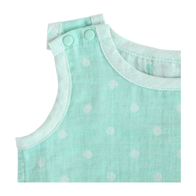 100% GOTS-Certified Organic Cotton Sleeveless Bodysuit, Mint