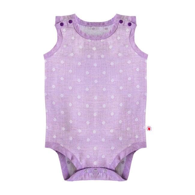 100% GOTS-Certified Organic Cotton Sleeveless Bodysuit, Grape