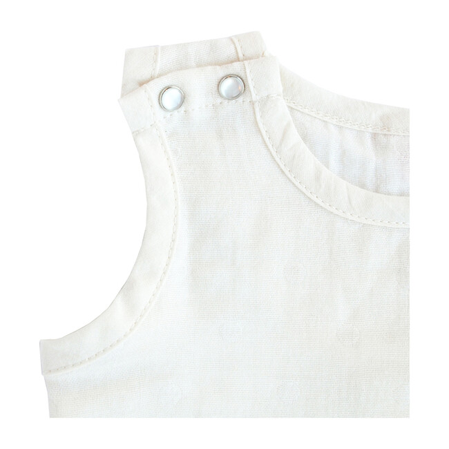 100% GOTS-Certified Organic Cotton Sleeveless Bodysuit, Pearl