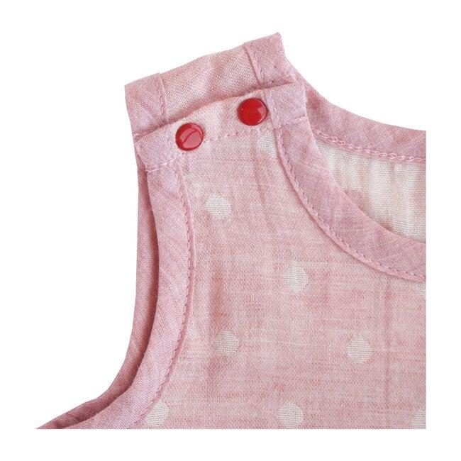100% GOTS-Certified Organic Cotton Sleeveless Bodysuit, Cinnamon