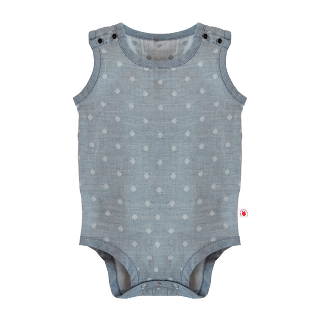 100% GOTS-Certified Organic Cotton Sleeveless Bodysuit, Charcoal