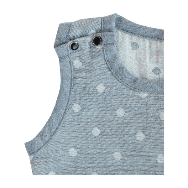 100% GOTS-Certified Organic Cotton Sleeveless Bodysuit, Charcoal