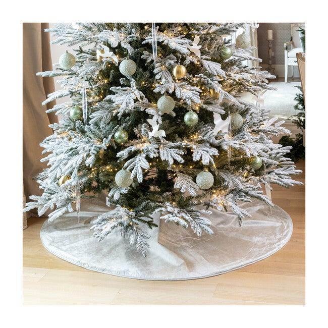 Velvet Tree Skirt, Silver