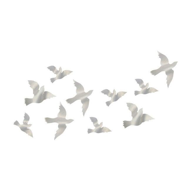 Acryllic Dove Wall Installation, 10 Count