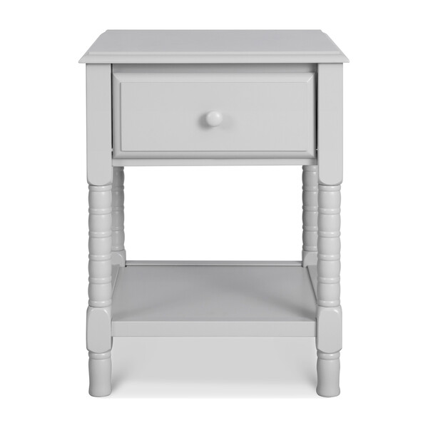 Jenny Lind Spindle Nightstand, Fog Grey