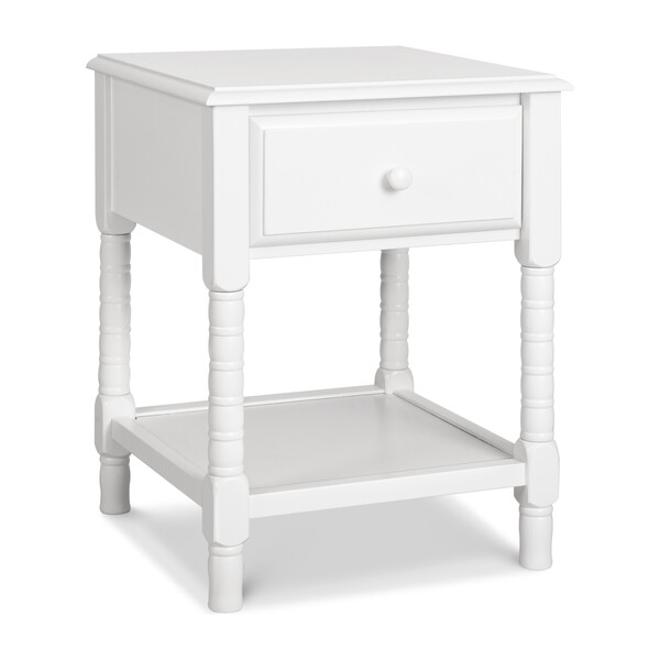 Jenny Lind Spindle Nightstand, White