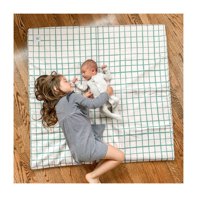Grid Playmat, Teal