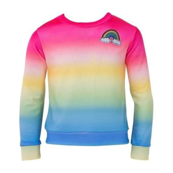 Rainbow Ombre Sweatshirt, Pink