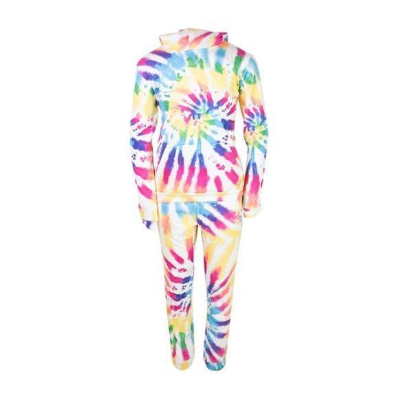 Rainbow Tie Dye Jogger Set, Rainbow