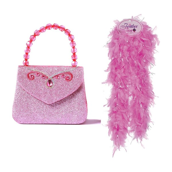 Glitter Princess Handbag and Boa Bundle