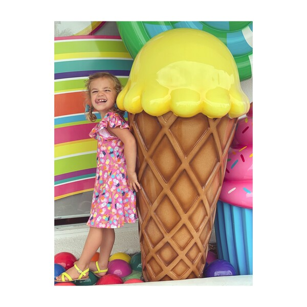 Flutter Dress, Ice Cream