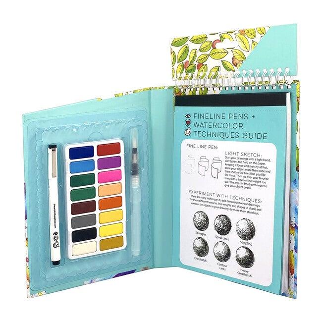 Travel Art Pack, Watercolors + Pen