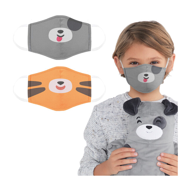 Pimm the Puppy and Tomo the Tiger Face Masks 2 Pack
