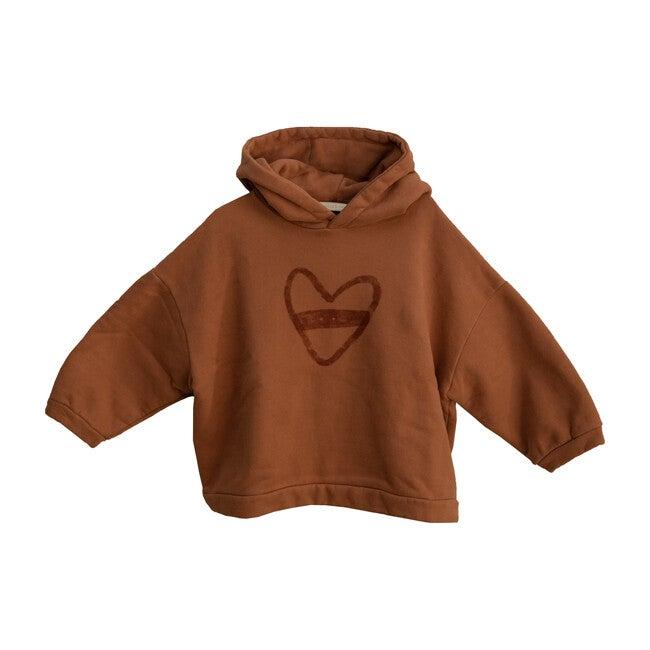 Oversized Heart Hoodie, Cocoa
