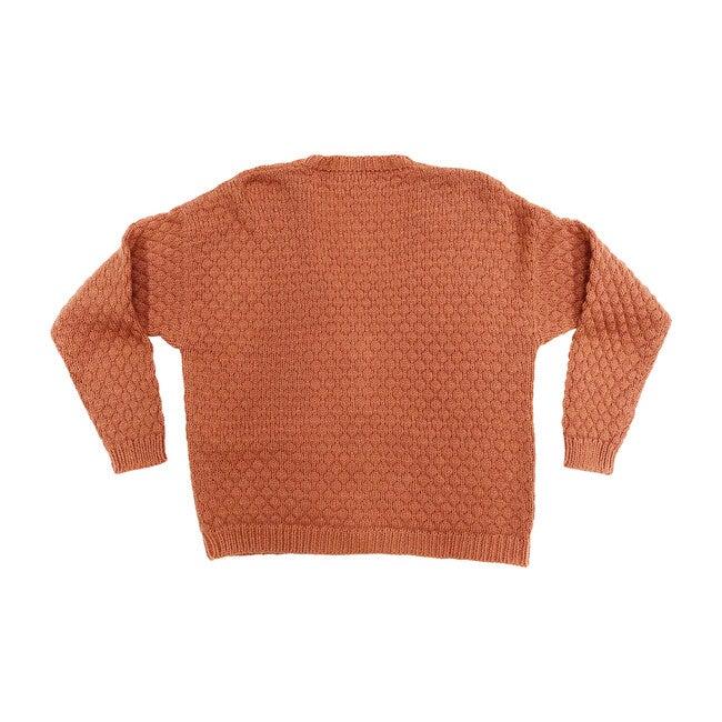 Women's Rust Alpaca Wool Cardigan