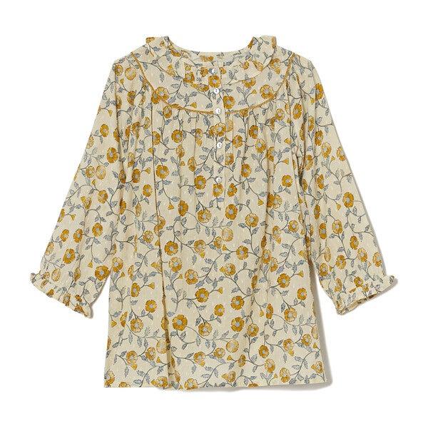 *Exclusive* Women's Laurel Mustard Flowers Top