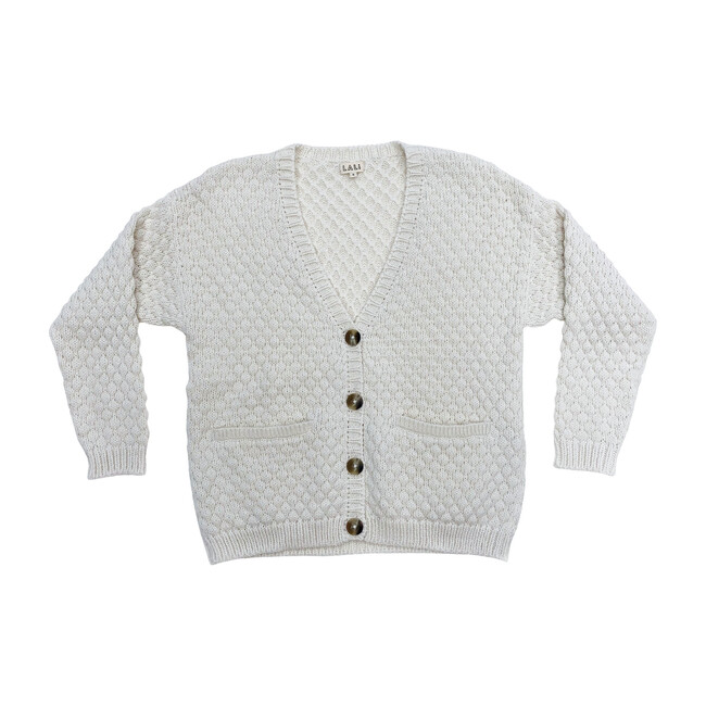 Women's Cream Alpaca Wool Cardigan