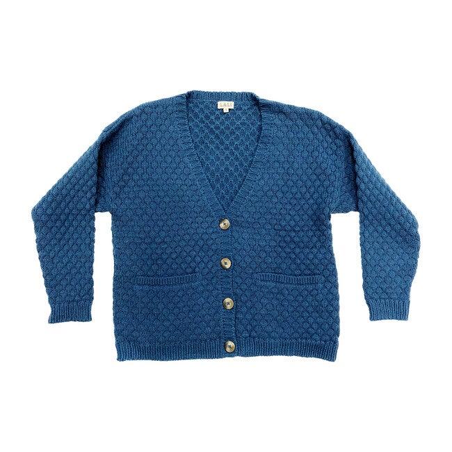 Women's Blue Alpaca Wool Cardigan