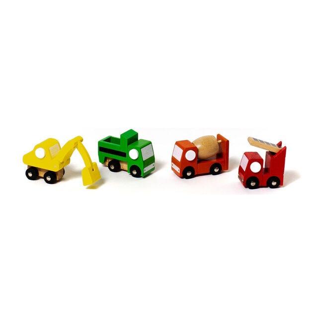 Mini Mover Construction Trucks, Set of 4