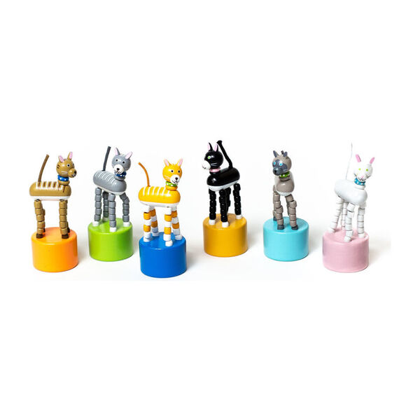 Kitty Cat Push Puppets, Set of 6