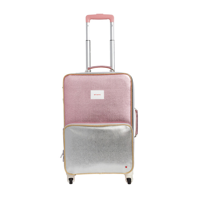 Logan Suitcase, Pink and Silver