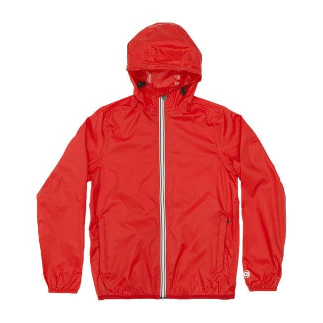 Sam Packable Rain Jacket, Red