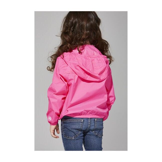 Sam Packable Rain Jacket, Pink Fluo