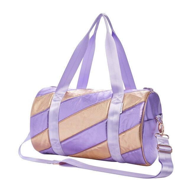Felix Duffle Bag, Purple/Rose Gold