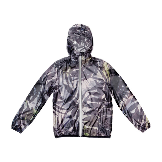 Sam Print Packable Rain Jacket, Palm Print