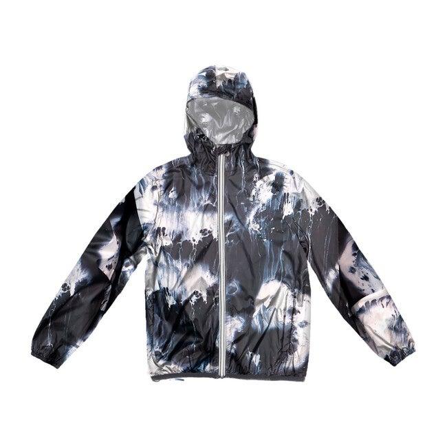 Sam Print Packable Rain Jacket, Oil Print