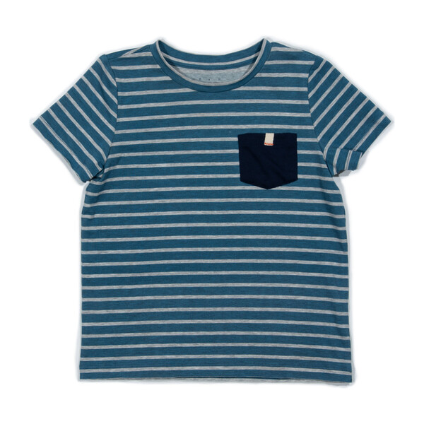 *Exclusive* Vincent Tee, Blue Stripe