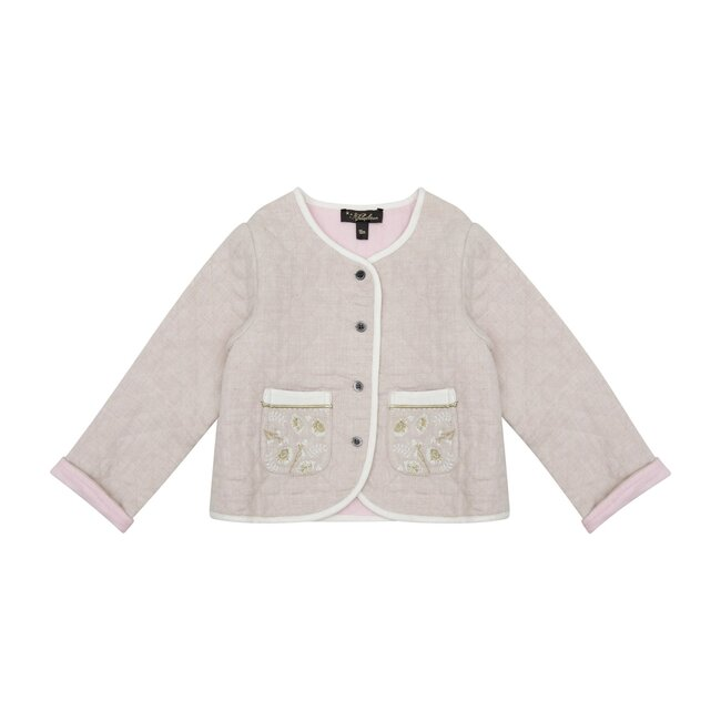 Annabell Quilted Jacket, Natural Flannel