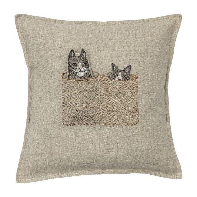 Basket Cats Pocket Pillow