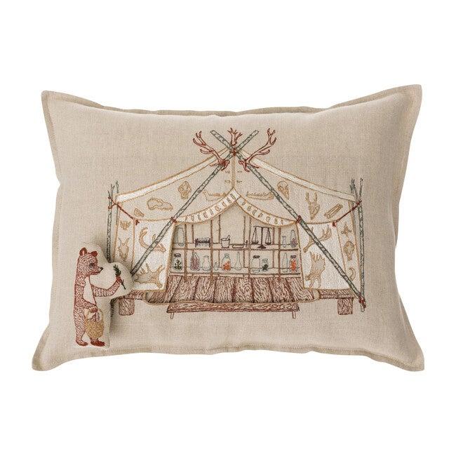Bear Apothecary Tent Pocket Pillow