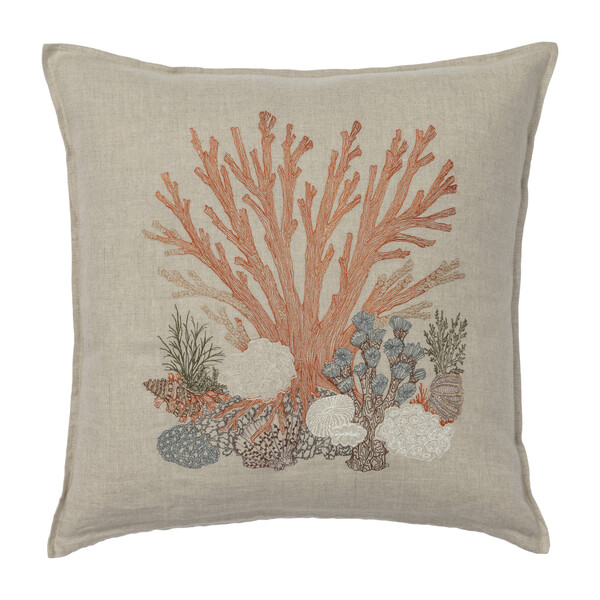 Large Coral Pillow, Multi