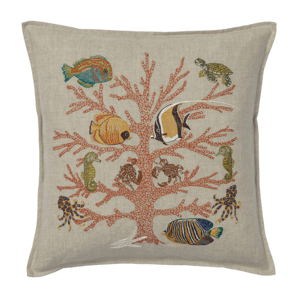 Coral Reef Pillow, Multi