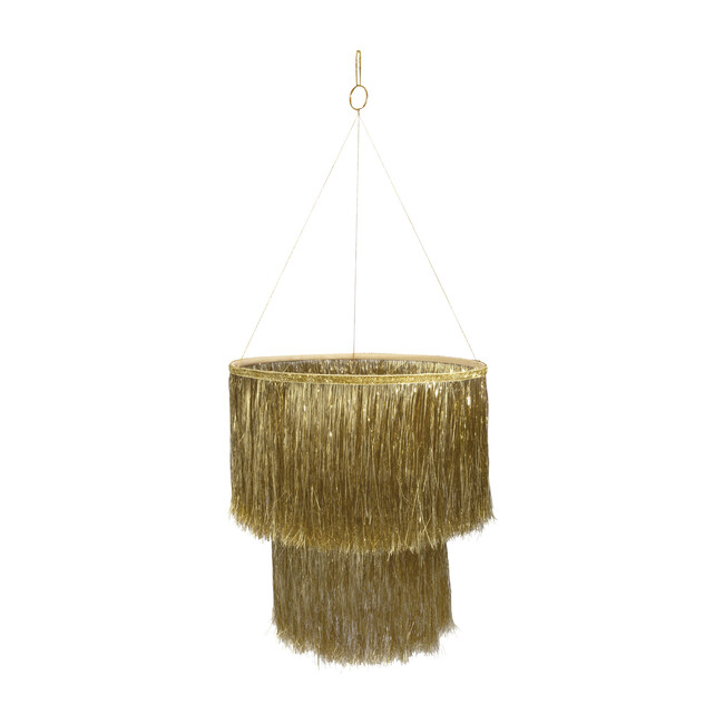 Tinsel Chandelier, Gold - Accents - 0 - zoom