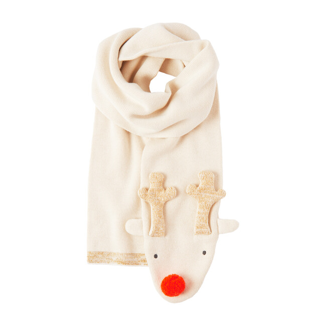 Reindeer Knitted Scarf