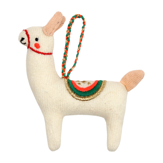 Knitted Llama Ornament