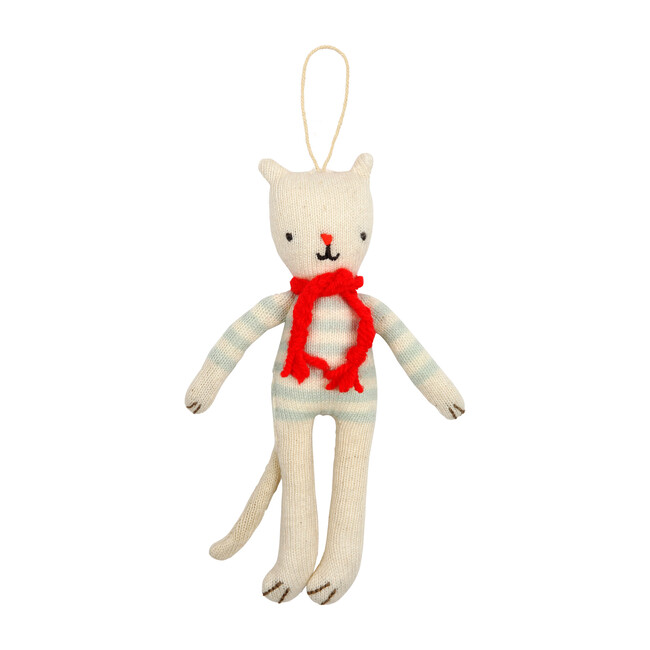 Knitted Cat Ornament