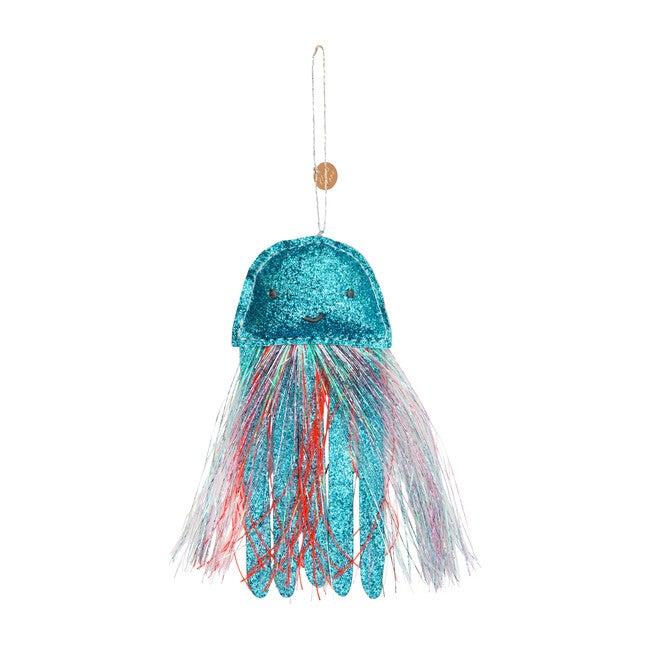 Jellyfish Ornament, Blue Glitter