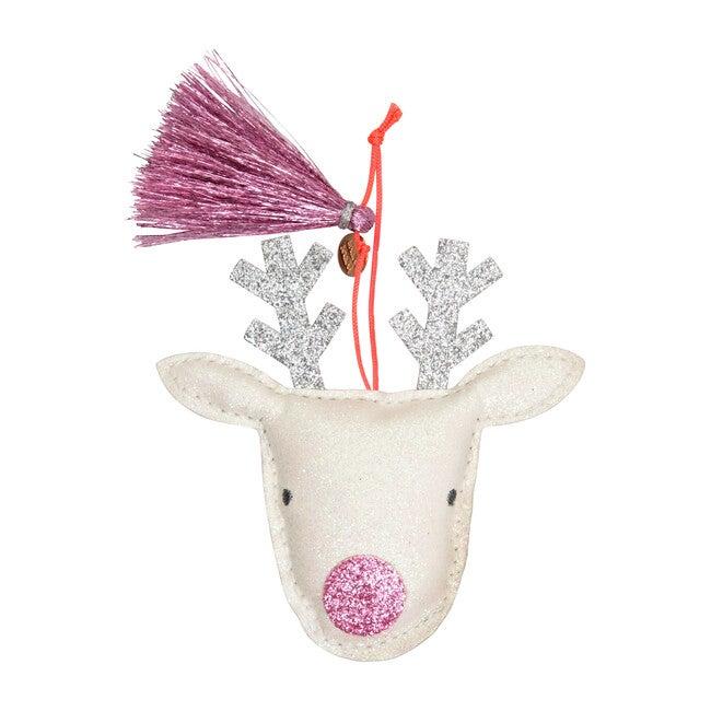 Reindeer Ornament, Pink Glitter