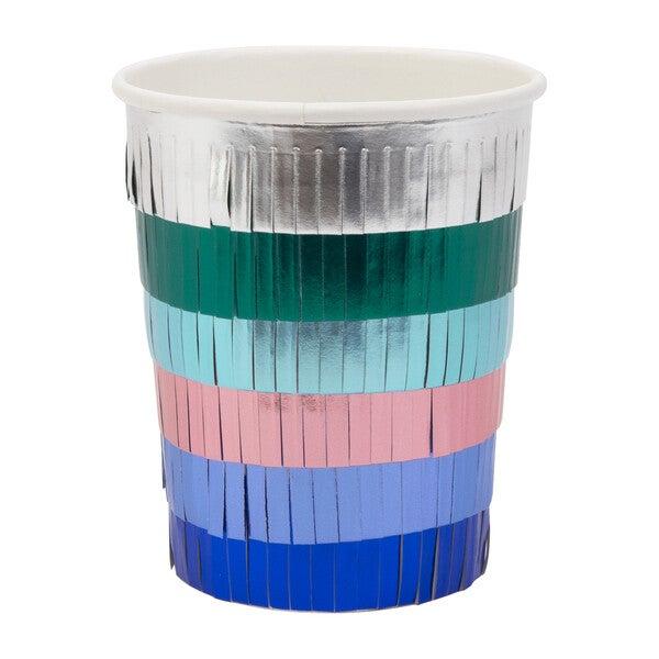 Metallic Fringe Party Cups