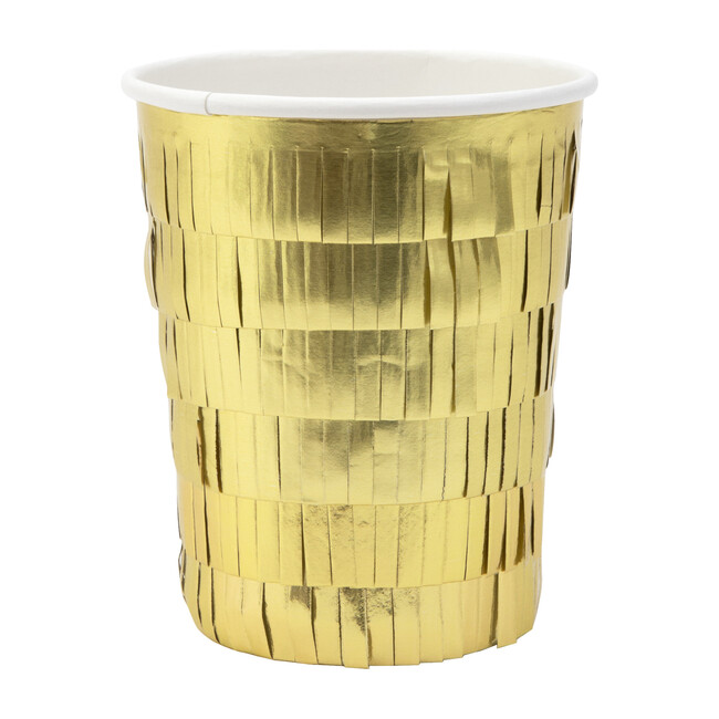 Gold Fringe Party Cups - Party - 0