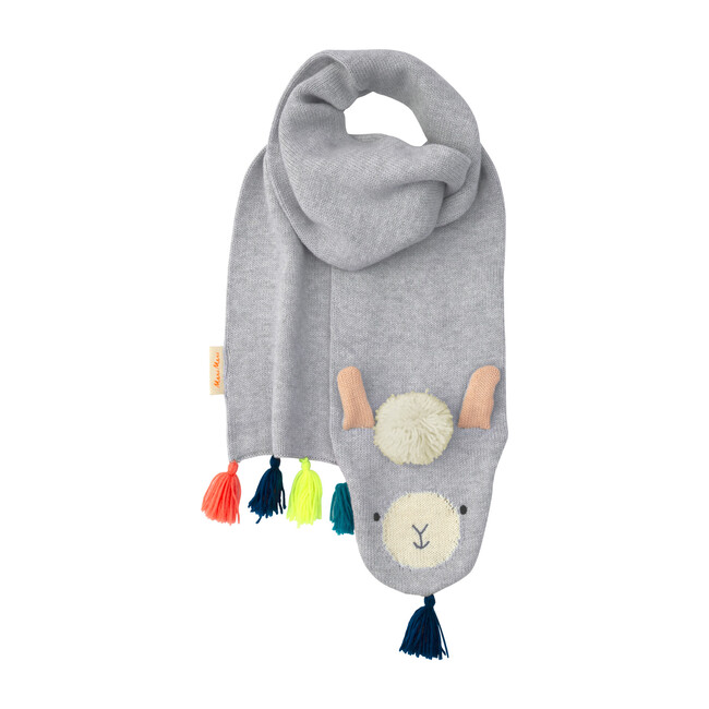 Llama Knitted Scarf - Scarves - 1