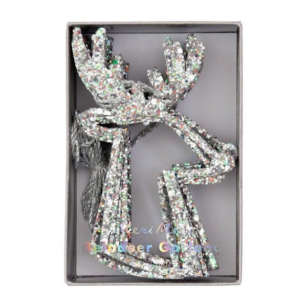 Silver Reindeer Garland